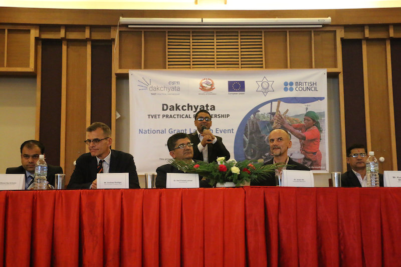 Dignitaries at the Dakchyata National Grant Launch event